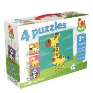 "Playlab 4in1 Puzzle ""Wilde Tiere"" 4/6/9/12 Teile"