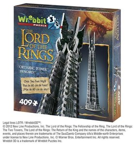 ISENGARD - ORTHANC TOWER, LORD OF THE RINGS 3D-PUZZLE Wrebbit