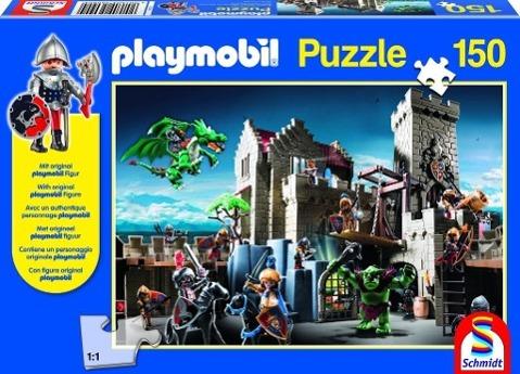 Playmobil: Kampf um den Königsschatz. Puzzle 150 Teile. mit Orig - zum Schließen ins Bild klicken