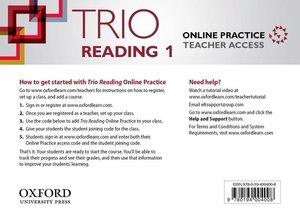 Trio: Trio Reading 1 Online Teachers Access Card Pack