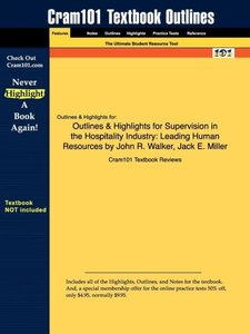 Outlines & Highlights for Supervision in the Hospitality Industr