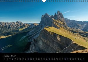 Dolomites / UK-Version (Wall Calendar 2015 DIN A3 Landscape)