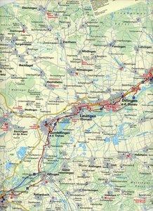 BVA-Radreisekarte Eurovelo 6 Karte 03 Donauradweg 1 : 100 000