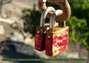 Love Locks / UK-Version (Wall Calendar 2015 DIN A3 Landscape)