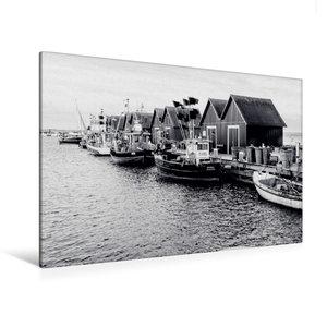 Premium Textil-Leinwand 120 cm x 80 cm quer Fischerhütten am Wei