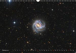 Farbiges Universum Galaxien und Nebel