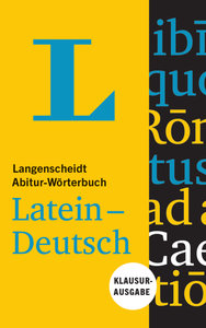 Langenscheidt Abitur-Wörterbuch Latein-Deutsch - Buch und Online