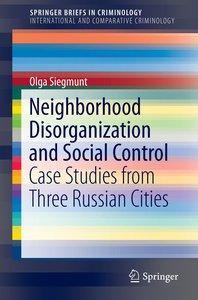 Neighborhood Disorganization and Self-Control