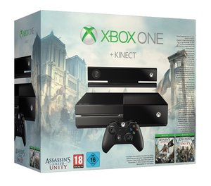 Xbox One Konsole - 500 GB + Kinect inkl. Assassins Creed 4-Black