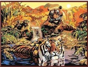 Ravensburger 28805 - Paradies der Tiger, MNZ, Malen nach Zahlen