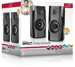 Speedlink IMPACT Stereo Speakers, Lautsprecher, schwarz