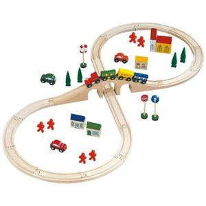 Bino 82242 - Holzeisenbahn, 46 Teile