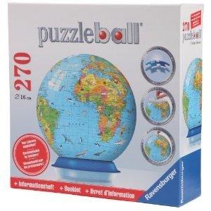 Ravensburger 12362 - Kinderglobus, englisch-Puzzleball, 270 Teil