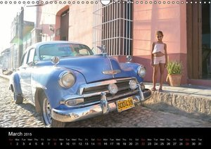 Cuba Cars (UK - Version) (Wall Calendar 2015 DIN A3 Landscape)