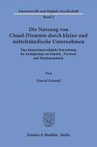 Die Nutzung von Cloud-Diensten durch kleine und mittelständische