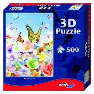 Puzzle 500 Teile mit 3D-Effekt. Schmetterlinge