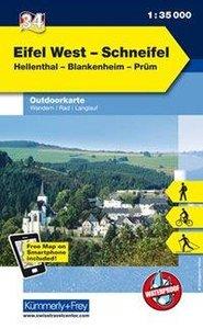 KuF Deutschland Outdoorkarte 34 Eifel West, Schneifel 1 : 35.000
