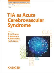 TIA as Acute Cerebrovascular Syndrome