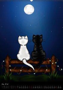 Niedliche Katzen (Wandkalender 2016 DIN A2 hoch)