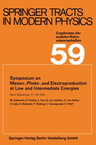 Symposium on Meson-, Photo-, and Electroproduction at Low and In