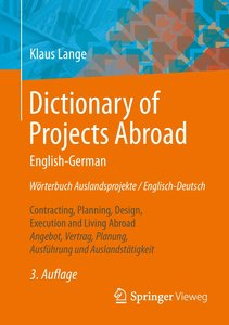 Dictionary of Projects Abroad English-GermanWörterbuch Auslandsp