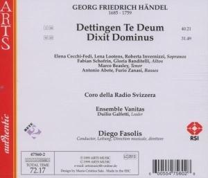 Dettingen Te Deum/Dixit Dominus