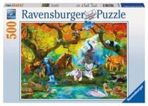 Ravensburger 14233 - Geheimnisvoller Wald, Puzzle, 500 Teile