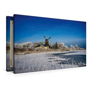 Premium Textil-Leinwand 90 cm x 60 cm quer Holländermühle Nicola
