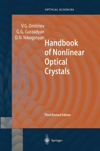 Handbook of Nonlinear Optical Crystals