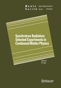 Synchrotron Radiation: Selected Experiments in Condensed Matter