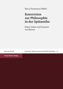 Konversion zur Philosophie in der Spätantike