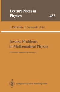 Inverse Problems in Mathematical Physics
