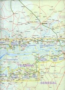 Senegal & Gambia 1 : 740 000 / Gambia & Senegal 1 : 340 000