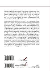 Geschichte, Bauweise und Repertoire der Klarinetteninstrumente