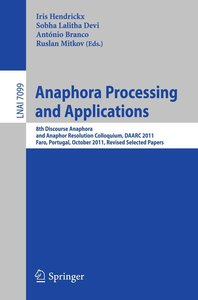 Anaphora Processing and Applications