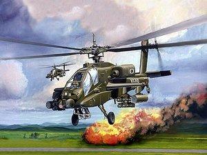 Revell 06704 - AH-64 Apache Hubschrauber, Steckbausatz