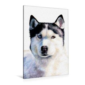 Premium Textil-Leinwand 80 cm x 120 cm hoch Husky Blue