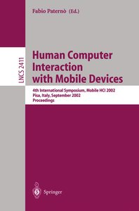 Mobile Human-Computer Interaction