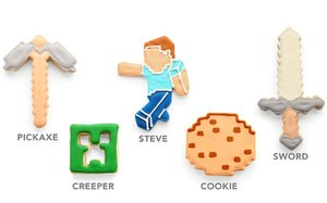 Minecraft - Cookie Cutters (5 Ausstechformen inkl. Keksdose)