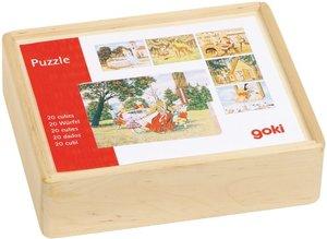 Würfelpuzzle Märchen Holz
