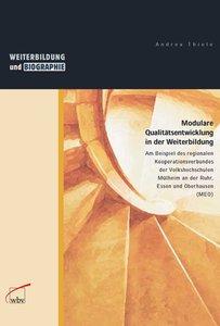 Weiterbildung und Qualitätsentwicklung