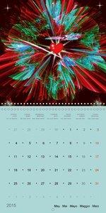 Art Calendar - Be happy... (Wall Calendar 2015 300 × 300 mm Squa