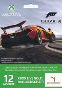 Microsoft XBOX LIVE Gold Mitgliedschaft 12+1 MONATE ABO - Forza