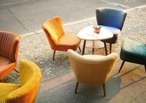 Einladung ins Straßencafé (Tischaufsteller DIN A5 quer)