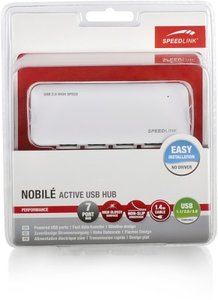 NOBILÉ Active USB Hub - 7-Port, white