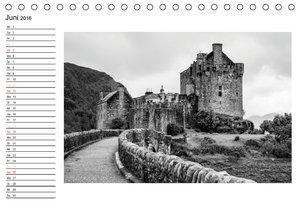 Schottland in Schwarz-Weiß (Tischkalender 2016 DIN A5 quer)