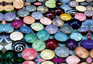 Premium Textil-Leinwand 45 cm x 30 cm quer Kokosnussschalen