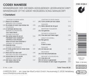Codex Manesse-Minnesänger Der Grossen