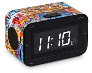 Radiowecker RR30 (LCD-Display dimmbar), RadioAlarmClock, Graffit