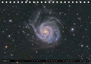 Galaxien des Nordhimmels (Tischkalender 2017 DIN A5 quer)